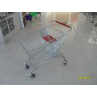 Coloful Powder Coating Metal Shopping Trolley 4 Flat Swivel Casters Manufactures