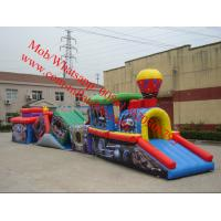 Inflatable Train Obstacle Course giant inflatable obstacle course Manufactures