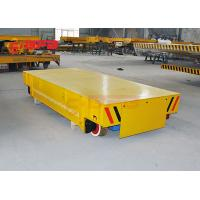 Wireless Motorized Automated Guided Carts Material Handling Rail Flatbed Trolley Manufactures