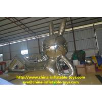 Silver Mirror Reflecting Inflatable Advertising Products Large Rabbit Model Manufactures