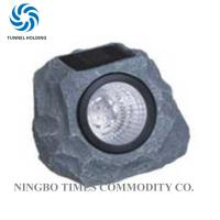 Solar Powered Garden Rock Lights , Resin LED Solar Rock Landscaping Lights Manufactures