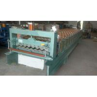 Industrial Steel Roof Tile Roll Forming Machine With Automatic SAJ Inverter Manufactures