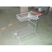 Warehouse cargo plat form trolley with top folding basket and 4 swivel flat casters Manufactures