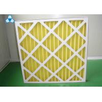 Yellow Paper Pre Air Filter For Medium - Efficiency Filters Or Hepa Filters Manufactures