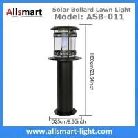 12LED 60cm 24Inch Height Black Sensor 2500mAh Westinghouse Solar Bollard Lawn Light Landscaping Yard Driveway Lamp Manufactures