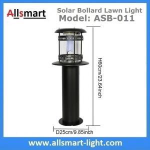 12LED 60cm 24Inch Height Black Sensor 2500mAh Westinghouse Solar Bollard Lawn Light Landscaping Yard Driveway Lamp Manufactures