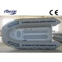 Gray Aluminum RIB Boat Foldable Inflatable Boat Without Deck light weight Manufactures
