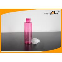Cylinder Round PET Small Plastic Bottles for Comestic Packaging Lotion Pump / Spray Pump Manufactures