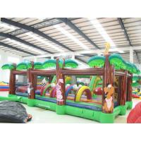 Kids Playing Inflatable Sports Games Customized Outdoor Fun city Manufactures