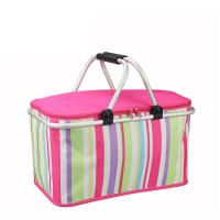 Quality 32L Travelling Outside Lunch Insulated Cooler Bags Foldable With Aluminum Frame for sale