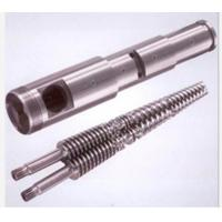 Durable PVC Plastic Extruder Spare Parts , Bimetallic Screw Barrel 0.015mm Straight Manufactures
