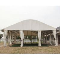 White Coated PVC Aluminum Frame Tent waterproof and Durable Curve Tent Manufactures