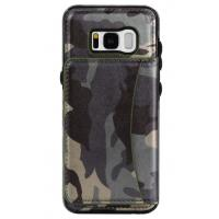 Galaxy S8 Samsung Leather Wallet Case Crazy Horse Original Camouflage Color Manufactures