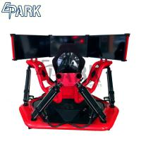 Red 3 Screen 9d Vr Racing Game Machine / Electric System 360 Degree Racing Car Simulator Manufactures