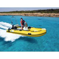 Deep V Fiberglass Rib Rigid Hull Inflatable Boat With With Console / Steering System Manufactures