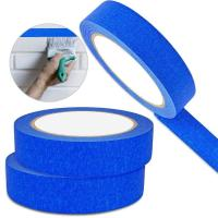 China Crepe Masking Tape Good Heat Resistance Automotive Painters Colored Masking Tape For Decoration on sale