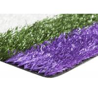 Smooth Coloured Tennis Court Artificial Turf , Coloured Fake Grass UV Resistance Manufactures