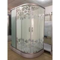 China Simple Maple Leaf Shower Cabin With Tray , Bathroom Shower Cubicles on sale