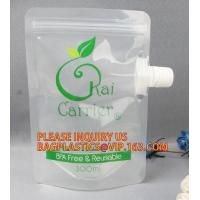 Plastic Cosmetic Spout Pouch For Facial Mask Reusable Hair Dye Chemical Packaging Spout Bag,Multi-purpose Liquid Chemica Manufactures