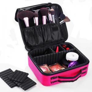 Ladies Polyester H26.5cm Cosmetic Travel Organizer Bag Manufactures