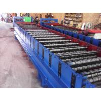 Galvanized Metal Corrugated Sheet Roll Forming Machine With Hydraulic Cutter Manufactures