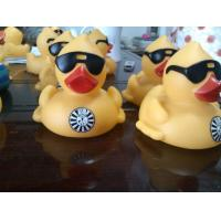 Racing Floating Yellow Duck Number Printed , Personalised Rubber Bath Ducks Weighted Manufactures