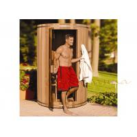 Western Red Cedar Silo residential Sauna / Barrel Sauna For Outdoor / Indoor Manufactures