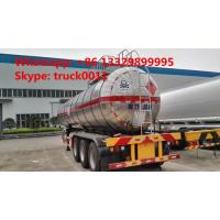 hot sale good quality 28mt 3 axles methyl chloride transport lpg semi-trailer, 35,000Lbulk lpg gas trailer Manufactures