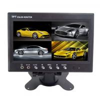 China 12V TFT Car LCD Monitor Split Screen ,  7 Inch Rearview Mirror Monitor on sale