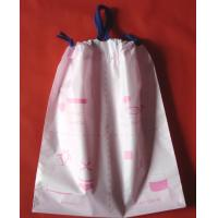 Luxury Women's Plastic Drawstring Cosmetic Bag Customized , Pink Manufactures