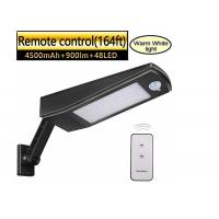 9W PIR Steel Stainless Arm Solar LED Street Light With Remote Control Manufactures