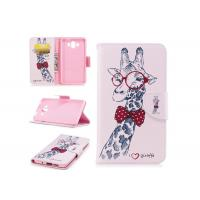 China Lovely Giraffe Card Pocket Phone Case , Cell Phone Wallet Case For Huawei on sale