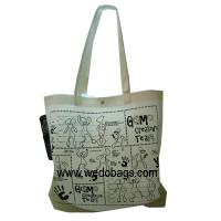 Custom Silk Screen Printing Cartoon Polypropylene Non Woven Shopping Bags Manufactures