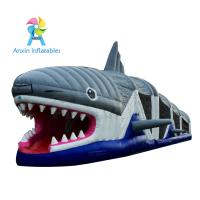 China manufacturer amusement inflatable shark obstacle course games for children Manufactures