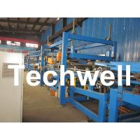 32KW, 50 - 250mm Rock Wool Insulated Sandwich Panel Line Machine For Prefabricated House Manufactures