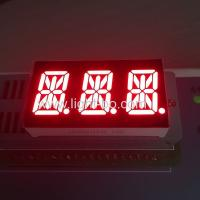 Ultra Red 0.54 Inch Triple Digit 14 Segment  Alphanumeric Led Display Manufactures