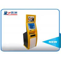PC Built In Touch Screen Information Kiosk For Business Center , Yellow Blue Manufactures