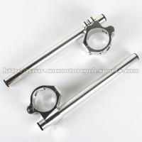 Quality 46mm Adjustable Motorcycle Clip On Handlebars ZX6R ZX9R ZRX 1100 1200 CNC Machined for sale