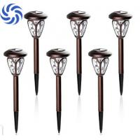 Stainless Steel Solar Garden Path Lights 5 Lumens With Frame Window Manufactures