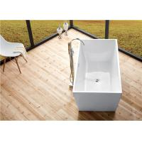 Quality Seamless Acrylic Square Freestanding Bathtub With Pop - Up Drainer Durable for sale