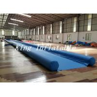 Outdoor 50m Long Inflatable Slide The City With Blue Single Lane Manufactures