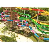 Combination Classic Outdoor Pool Slide Fiberglass Galvanized Carbon Steel Frame Manufactures