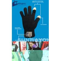 Knitting Bluetooth Beanie Hat / Gloves With Touch Screen For Promotion Manufactures