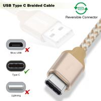 Quality Short USB C to USB A Type C Charging Cable 1Ft Multicolors Nylon Braided for sale