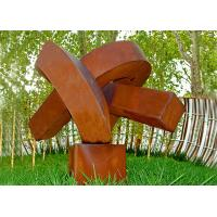 Abstract Rusted Metal Sculpture , Contemporary Rusted Steel Garden Art Manufactures