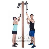 wholesale outdoor fitness equipment park wood outdoor arm stretcher Manufactures