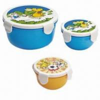 Food Container Set, Made of PP, BPA-free, Available in Various Sizes and Colors, FDA/EN 71 Certified Manufactures