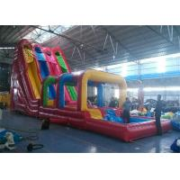 Outdoor Commercial Inflatable Slide , Three Lanes Inflatable Slide For Kids And Adults Manufactures