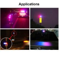 Quality 6LED Red & Blue Solar Powered Signal Bridge Flash Warning Light Sensitive Car Vehicle Magnetic Mounted LED Caution Lamp for sale