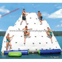 Giant Inflatable Water Iceberg Pool Float , Inflatable Climber For Water Park Manufactures